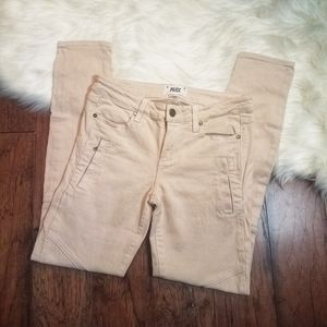 Paige CASSIDY ZIP Moto Jegging SIZE 28 Pale Pink